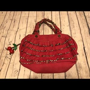 Betsyville by Betsy Johnson cherry red purse